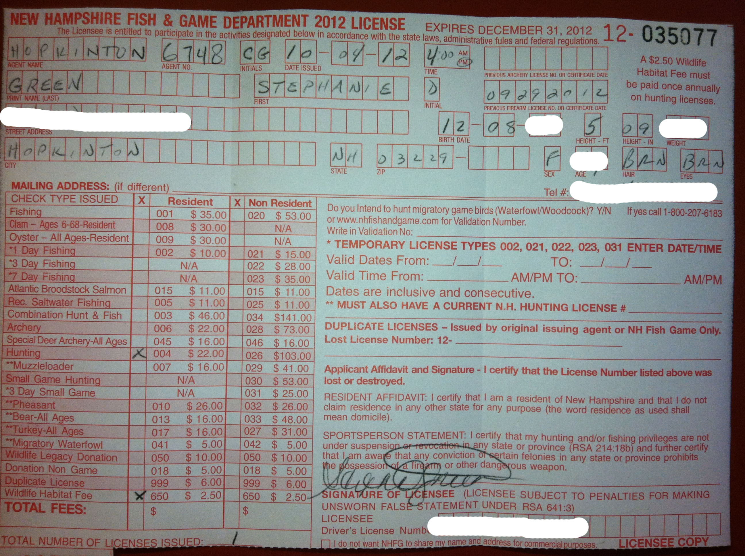 Hunting license courses backuptex for How much is a fishing license in washington